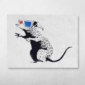 3D Rat Banksy Street Art