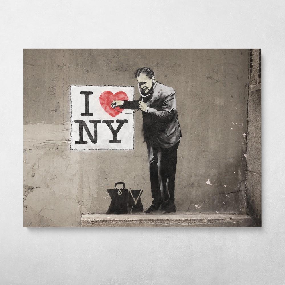 I Love NY Banksy Street Art
