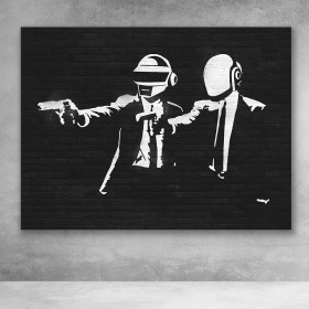 Daft Punk Pulp Fiction Banksy Street Art