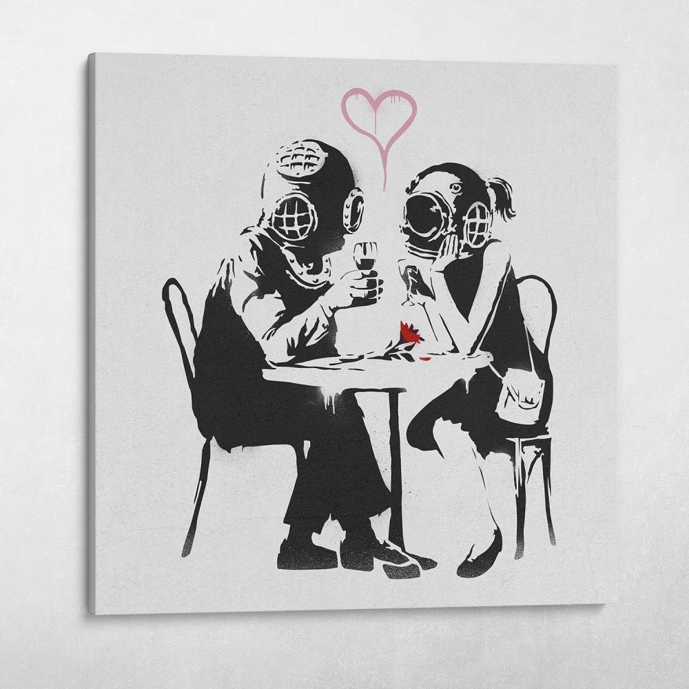 Diver Love Banksy Street Art