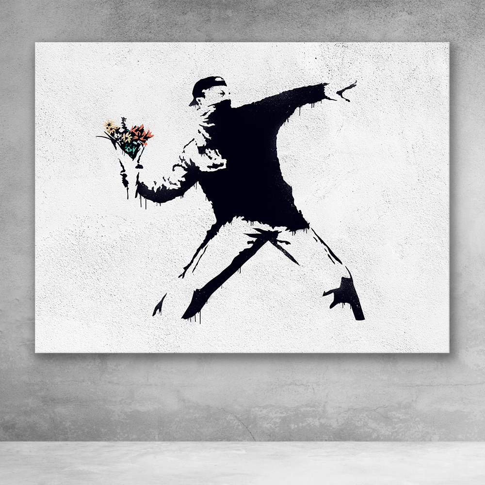 Flower Thrower Banksy Street Art