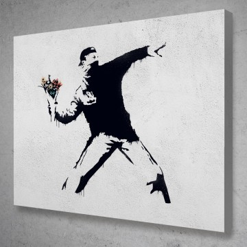 Flower Thrower Banksy Street Art