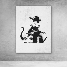 Gangster Rat Banksy Street Art