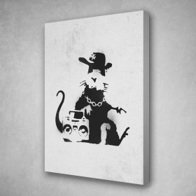 Gangster Rat Banksy Street Art