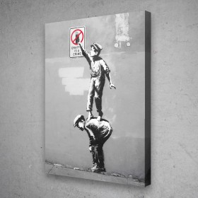 Graffiti Is A Crime Banksy Street Art