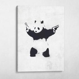 Panda With Guns Banksy Street Art