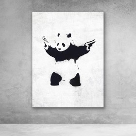 Panda With Guns Banksy Street Art