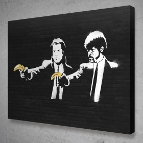 Pulp Fiction Banksy Street Art