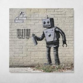 Robot Graffiti Banksy Street Art