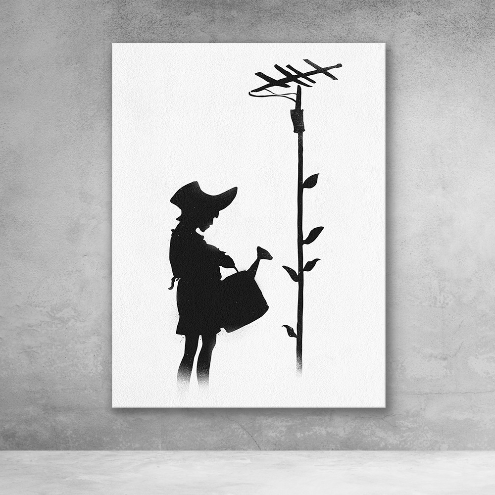 Watering Girl Banksy Street Art