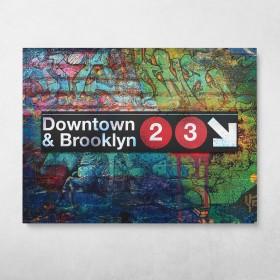 Subway Downtown Brooklyn Graffiti