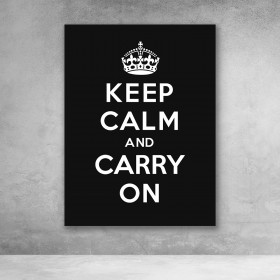 Keep Calm And Carry On - Black