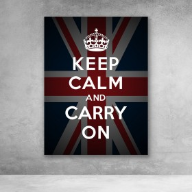 Keep Calm And Carry On - Flag