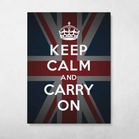 Keep Calm And Carry On - Flag