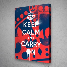 Keep Calm And Carry On - Graffiti