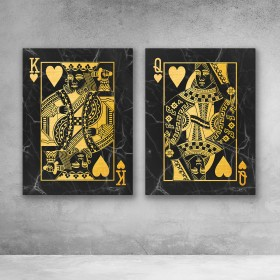 King And Queen Of Hearts Set (Black)