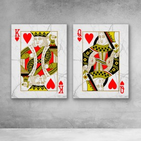 King And Queen Of Hearts Set (White)
