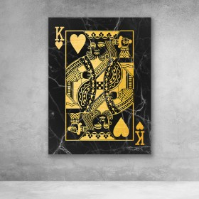 King of Hearts (Black/Gold)