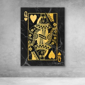 Queen of Hearts (Black/Gold)