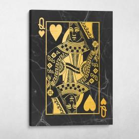 Queen of Hearts (Black/Gold)
