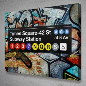 Subway Times Square Graffiti