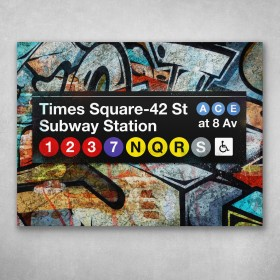 Subway Times Square Graffiti