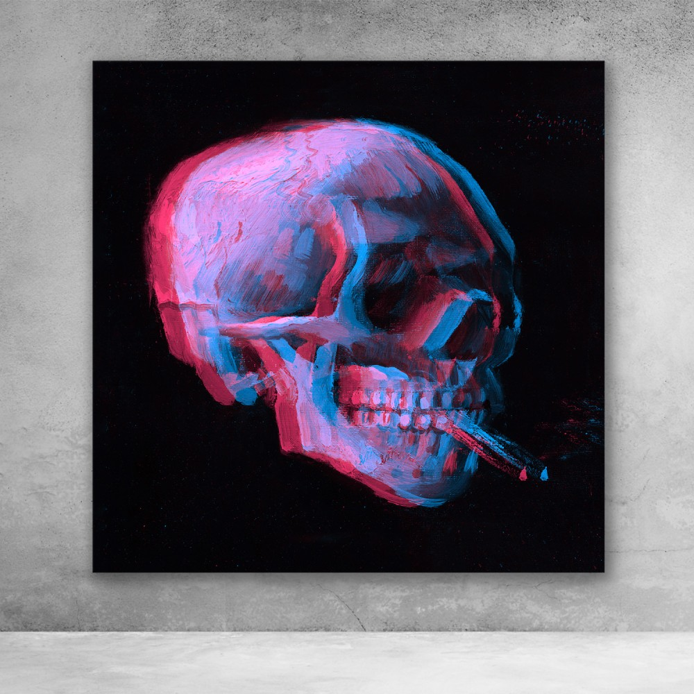 Van Gogh Pop Art Skull
