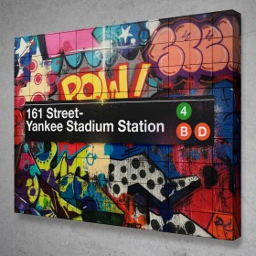 Subway Yankee Stadium Graffiti