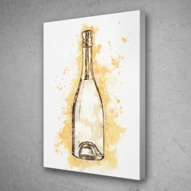 Champagne Bottle Splatter