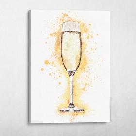 Champagne Glass Splatter