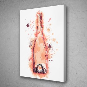 Wine Bottle Splatter