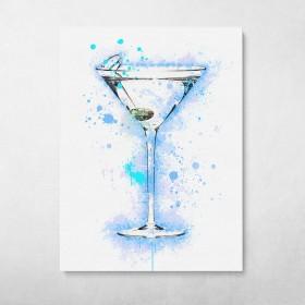 Martini Cocktail Splatter