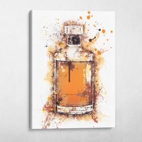 Whiskey Bottle Splatter
