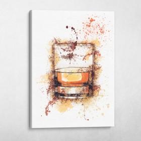 Whiskey Glass Splatter
