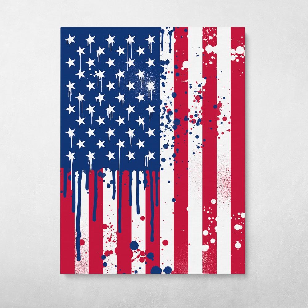 American Flag Graffiti