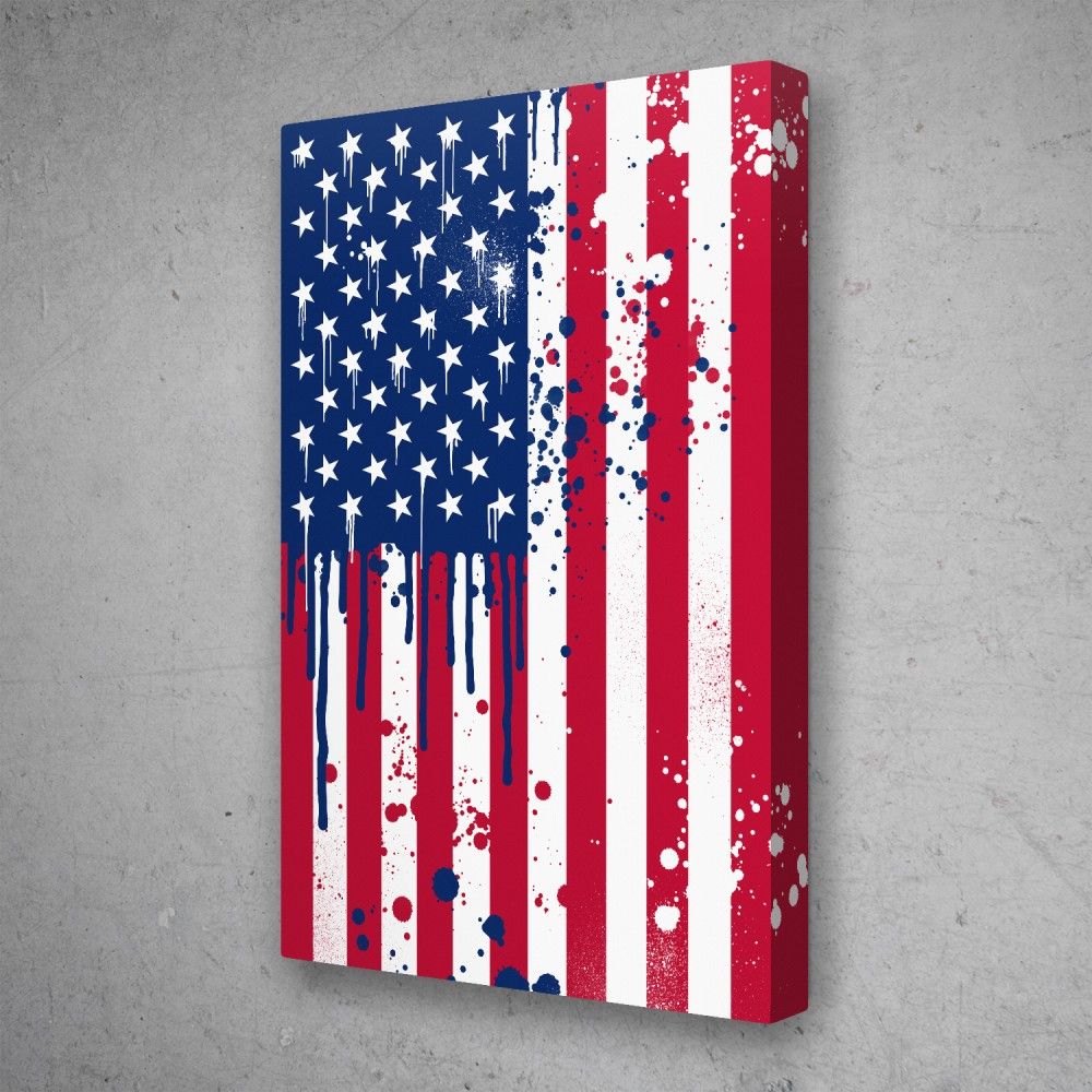 American Flag Graffiti
