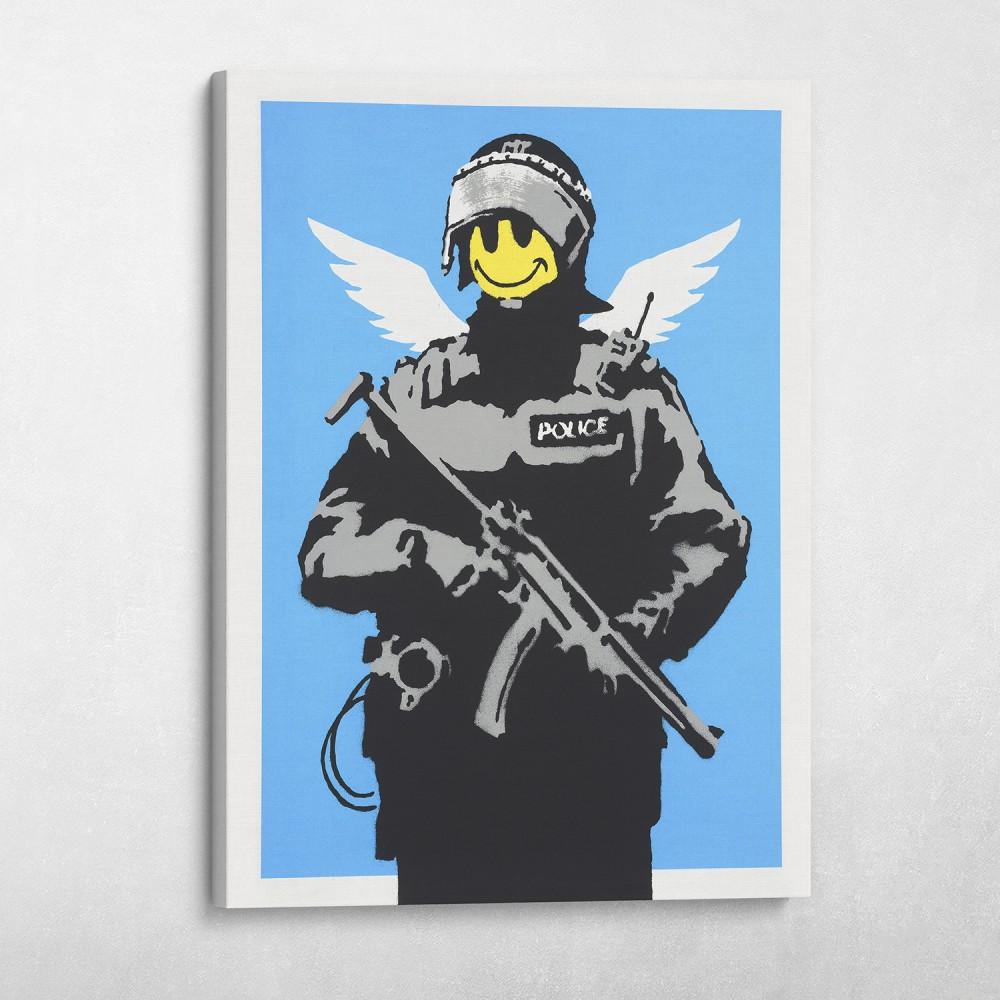 Flying Copper Banksy Street Art