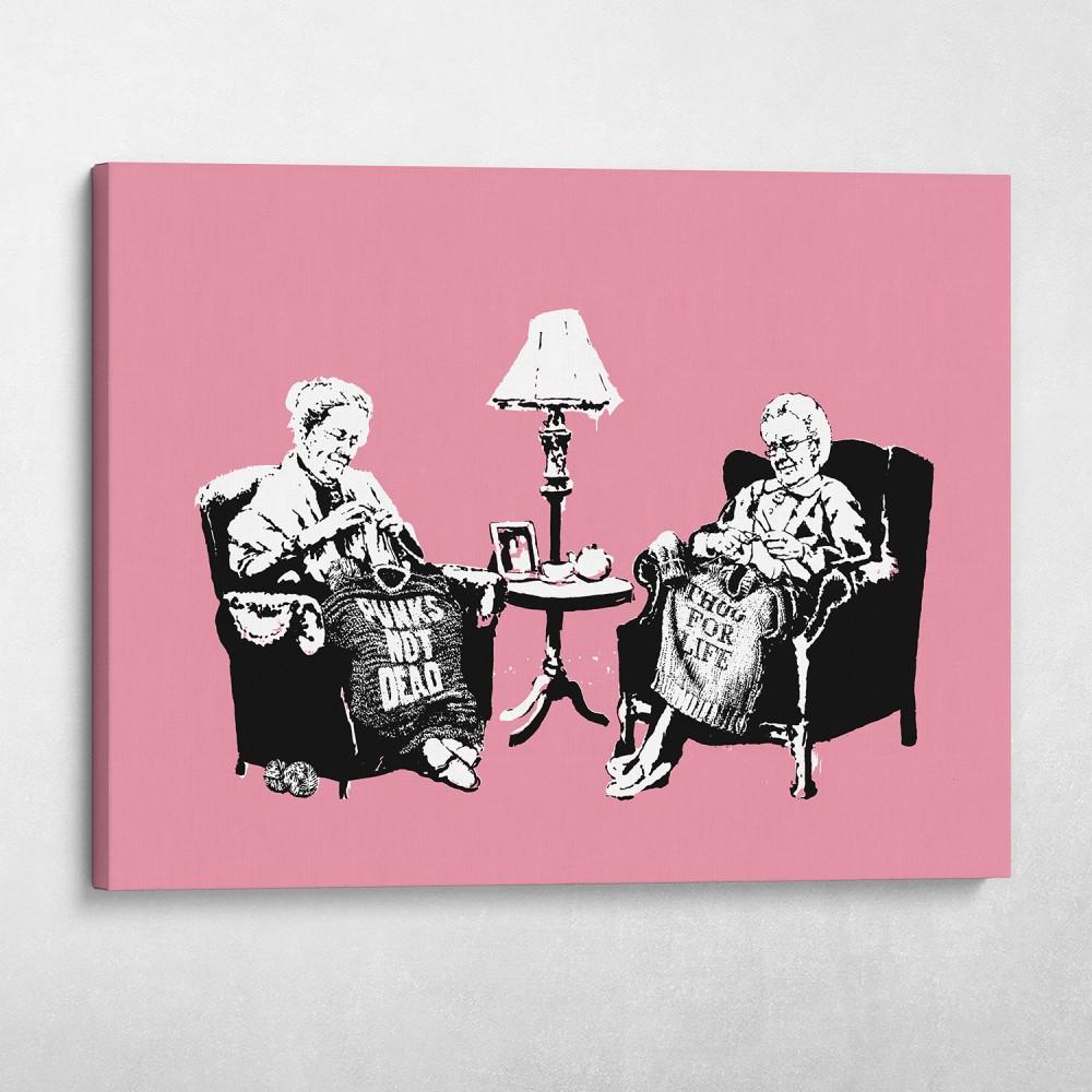 Punk Thug Grannies Banksy Street Art