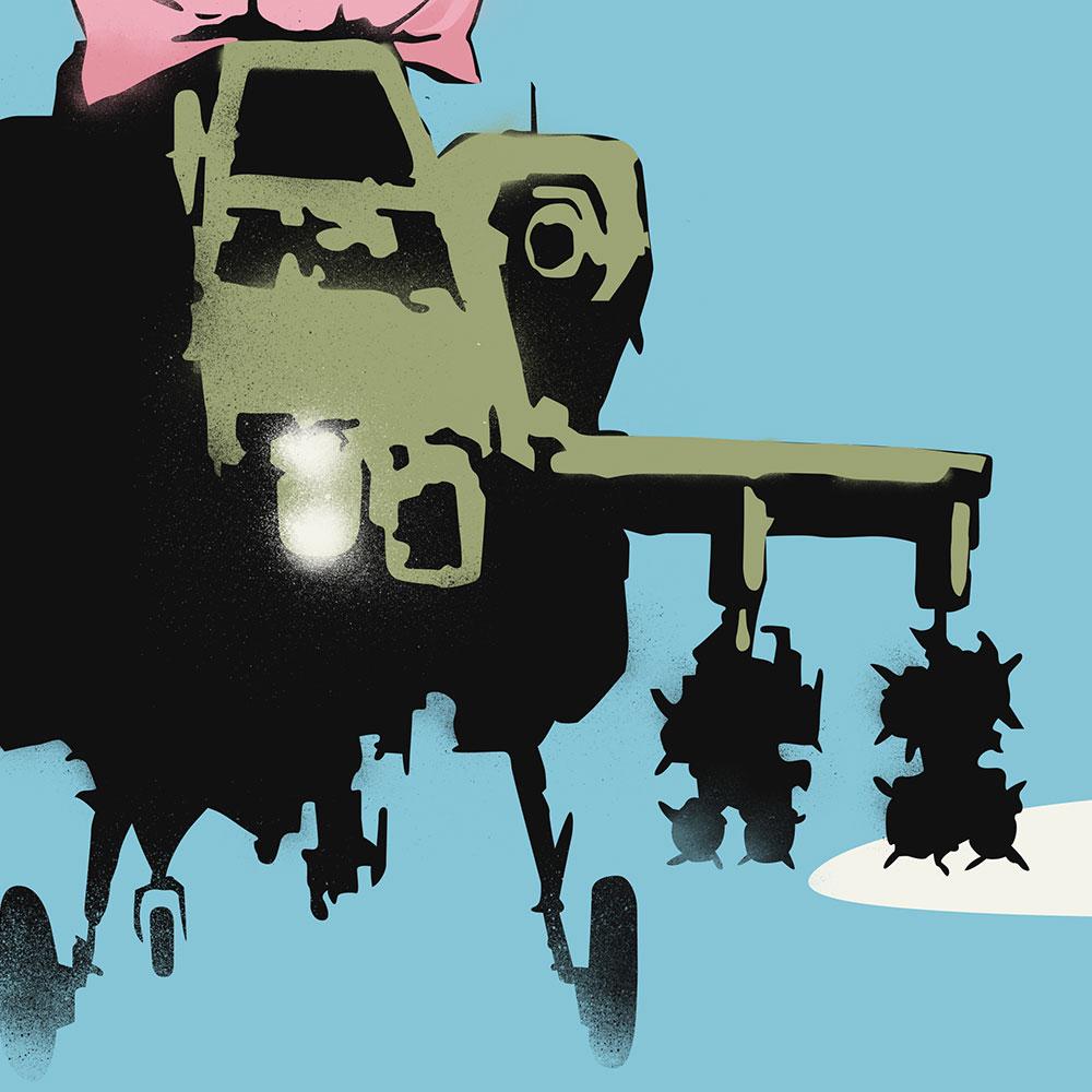 Happy Choppers Banksy Street Art
