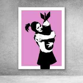 Bomb Hugger Pink Banksy Street Art