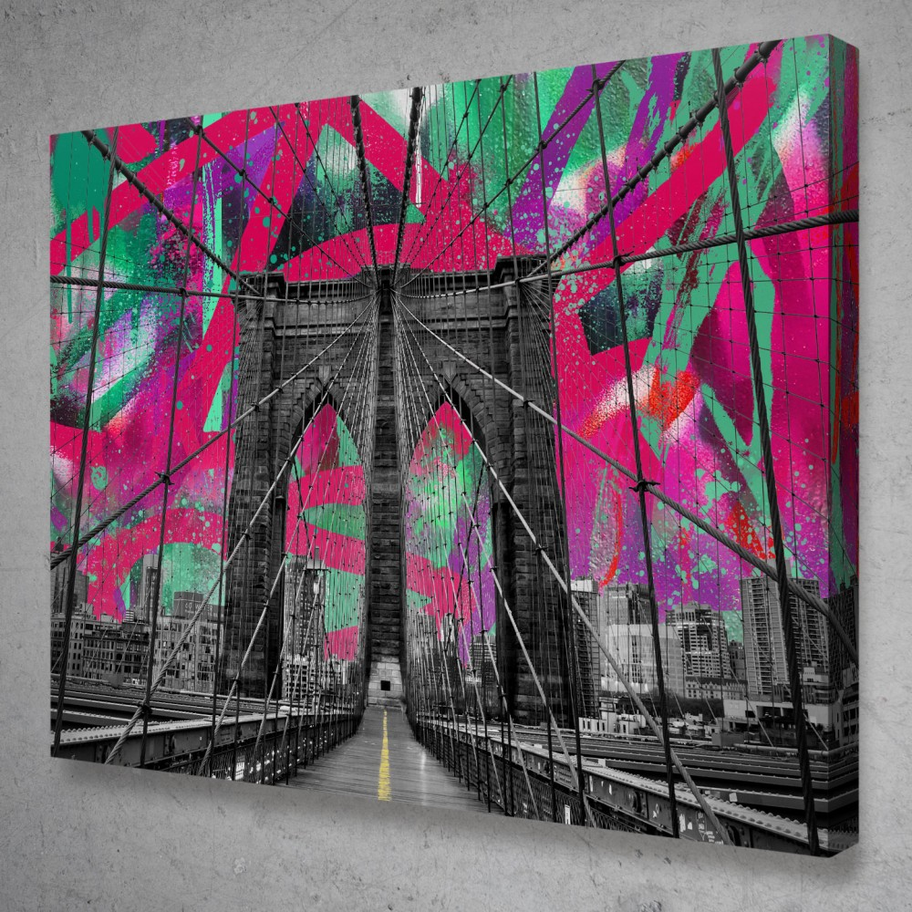 Brooklyn Bridge Graffiti Street Art