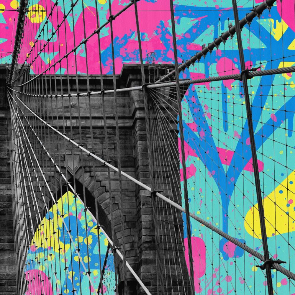 Brooklyn Bridge Graffiti Pop Art