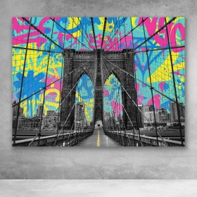 Brooklyn Bridge Graffiti Pop Art