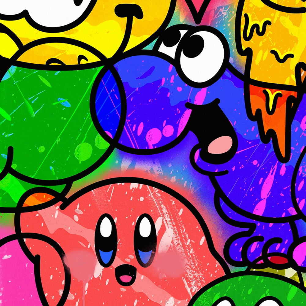 Cartoon Graffiti Collage