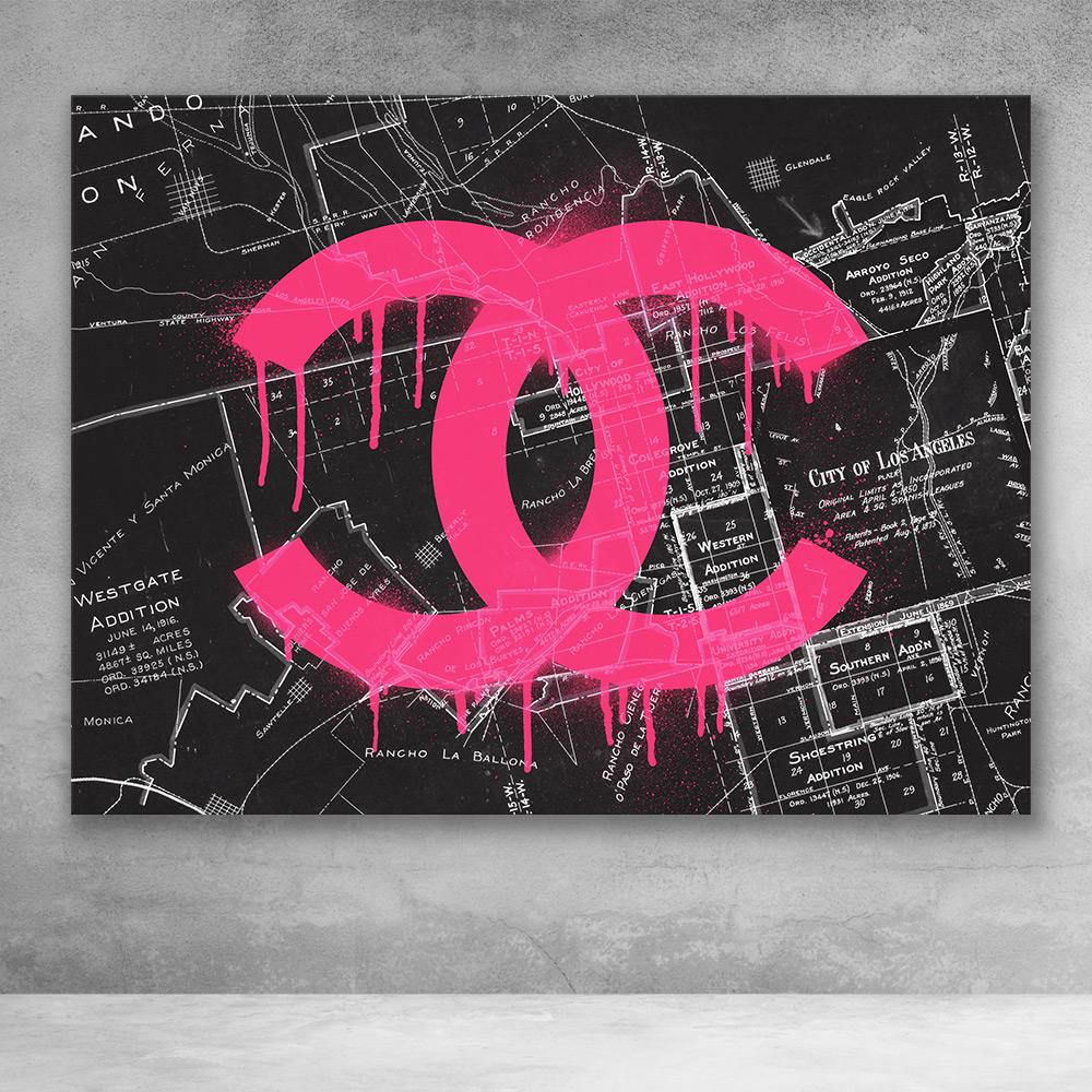 Chanel La Graffiti Street Fashion Pop Art Canvas Wall Art