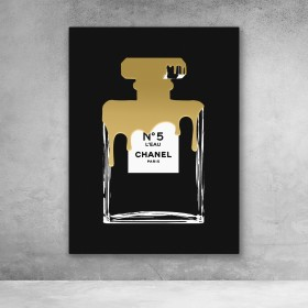 Chanel No5 Gold Paint Drip