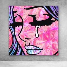Crying Girl Graffiti #2