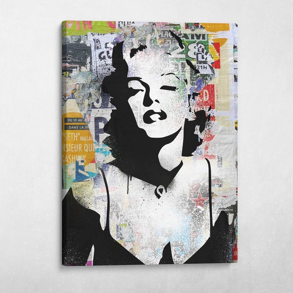 Marilyn Monroe Decollage