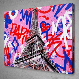 Eiffel Tower Graffiti Pop Art