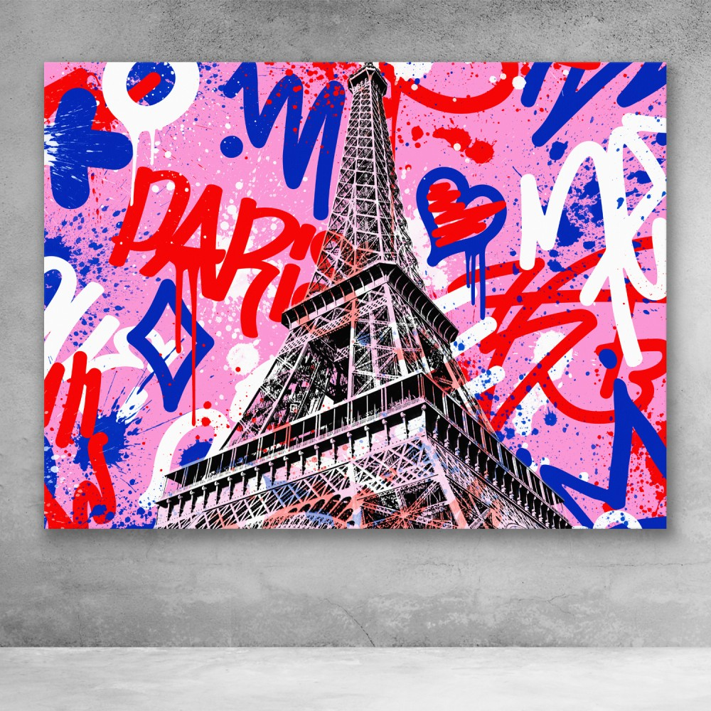 Eiffel Tower Graffiti Pop Art